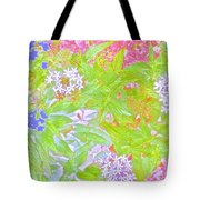 Bouquet Of Flowers Watercolor Photography Tote Bag