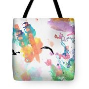 Watercolor Seagulls Tote Bag