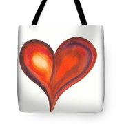 Watercolour Painting Of Colorful Abstract Heart Tote Bag