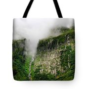 Waterfall And Clouds Tote Bag