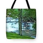 Waterfall And Hammock In Summer 2 Tote Bag