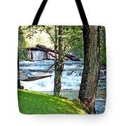 Waterfall And Hammock In Summer 3 Tote Bag