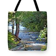 Waterfall And Hammock In Summer Tote Bag