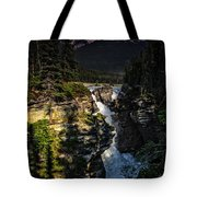 Waterfall And Mountain In Jasper Tote Bag