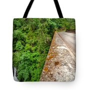 Waterfall And Old Road Tote Bag