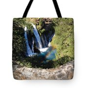 Waterfall And Rainbow 3 Tote Bag