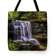 Waterfall And Rainbow Tote Bag