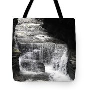 Waterfall And Rocks Tote Bag