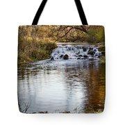 Waterfall At Bonneyville Tote Bag