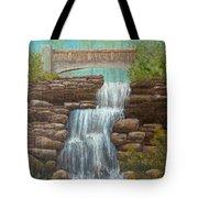 Waterfall At East Hampton Tote Bag