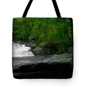 Waterfall At George W Childs Park Tote Bag