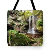 Waterfall At Roughting Linn Tote Bag