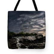 Waterfall At Sunrise Tote Bag by Bob Orsillo