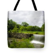 Waterfall At Valley Creek Near Valley Forge Tote Bag