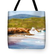 Waterfall Beach Denmark Painting Tote Bag
