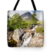 Waterfall Below Stob Dearg Tote Bag