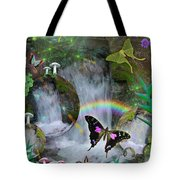 Waterfall Daydream Tote Bag by Alixandra Mullins