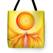 Waterfall From Series Angel's Town Tote Bag