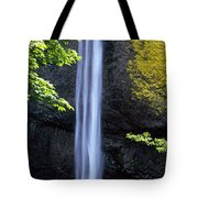 Waterfall In A Forest, Latourell Falls Tote Bag
