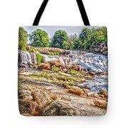 Waterfall In Contrast Tote Bag