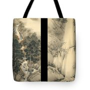 Waterfall In Spring And Autumn Tote Bag