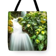 Waterfall In The Hosta Tote Bag