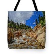 Waterfall In The Rockies Tote Bag