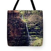 Waterfall In The Valley Tote Bag