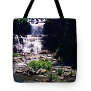 Waterfall Into The Stream Tote Bag