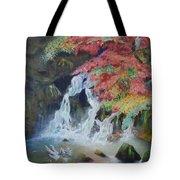 Japanese Waterfall Tote Bag
