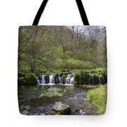 Waterfall Lathkill Dale Derbyshire Tote Bag