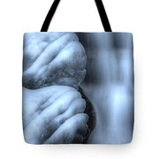 Waterfall Near Johnston Canyon Alberta Tote Bag