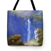 Waterfall New Zealand Tote Bag