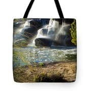 Waterfall Sunset Tote Bag