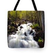 Waterfall Through The Aspens Tote Bag