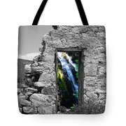 Waterfall Through The Magic Door Tote Bag