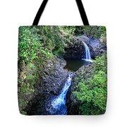 Waterfalls And Pools Maui Hawaii Tote Bag
