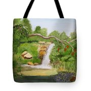 Waterfalls At Red Butte Garden Tote Bag