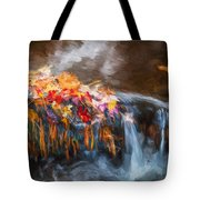 Waterfalls Childs National Park Painted  Tote Bag
