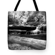 Waterfalls Mill Black N White Tote Bag