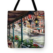 Waterfront Cafe Tote Bag