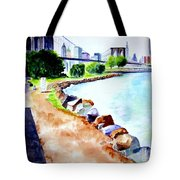 Waterfront In Dumbo Tote Bag