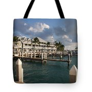 Waterfront Key West Tote Bag
