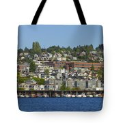 Waterfront Living On Lake Union Tote Bag