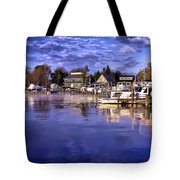 Waterfront Morning Tote Bag