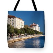 Waterfront Promenade In Zadar Tote Bag