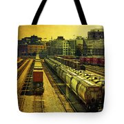 Waterfront Rail Yard Tote Bag