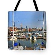 Waterfront View Hoboken Tote Bag