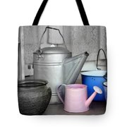 Watering Cans And Buckets Tote Bag