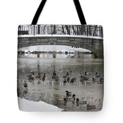 Watering Hole Ducks Only Tote Bag